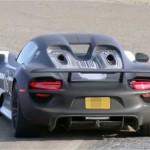 Шпионы засняли гибрид Porsche 918 Spyder во время тестирования